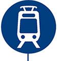 icon of light rail link train