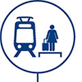icon of woman waiting to board link